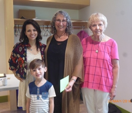Deb Green (center) and two of the actors, Destee Klyne (left) and Jett Klyne(front), from the film 'The trouble with Destiny' with KFS's Brenda Gilbert (right).